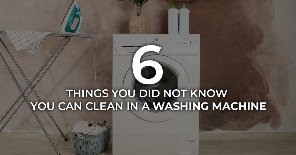 6 things you didn't know you can clean in a washing machine